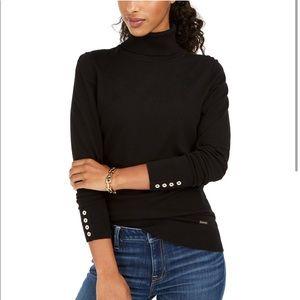 Tommy Hilfiger Button Cuff Turtleneck Sweater XS